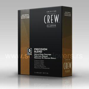 American Crew PRECISION BLEND MEDIUM ASH-Boja za kosu za muškarce pepeljasto svetlo smeđa