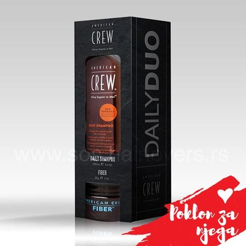 American Crew VALENTINE DAY DUO-Paket proizvoda šampon i stajling krema za muškarce