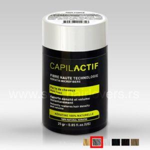 Capil Actif FIBRES-GRIS FONCE - Keratinski mikrofiber za prikrivanje nedostataka kose