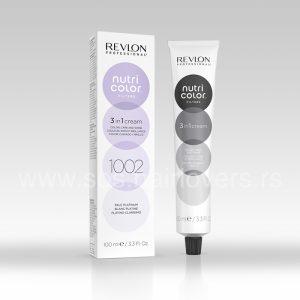 Nutri Color Creme 1002 Platinasta negujuća krema sa pigmentima za neutralisanje neželjenih žutih tonova sa kose