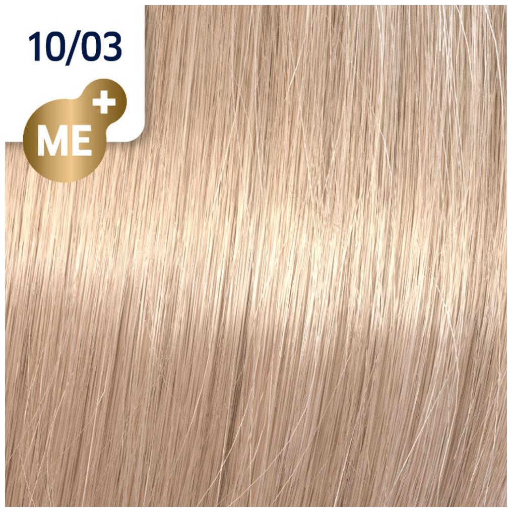 Profesionalna boja za kosu Wella Koleston Perfect 10/03 Najsvetlija prirodno zlatno plava