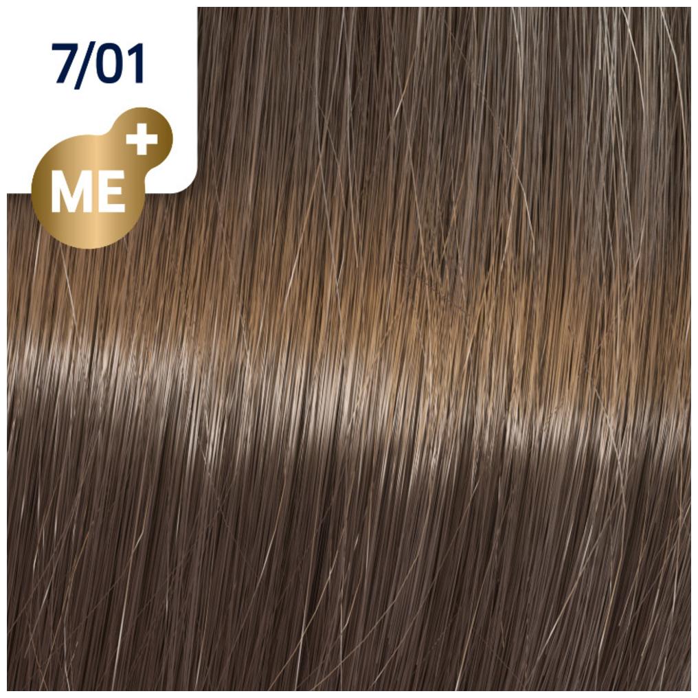 Profesionalna boja za kosu Wella Koleston Perfect 7/01 Prirodno pepeljasto srednje svetlo plava