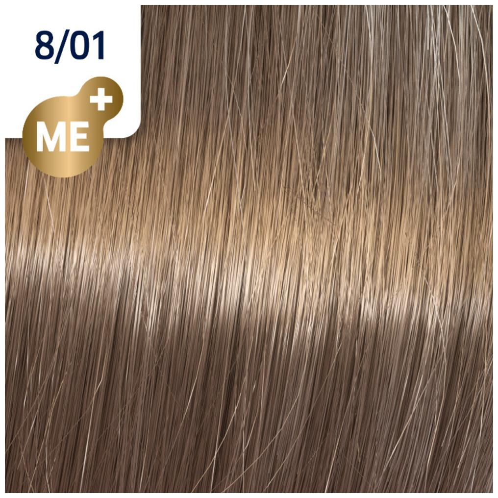 Profesionalna boja za kosu Wella Koleston Perfect 8/01 Prirodno pepeljasto svetlo plava