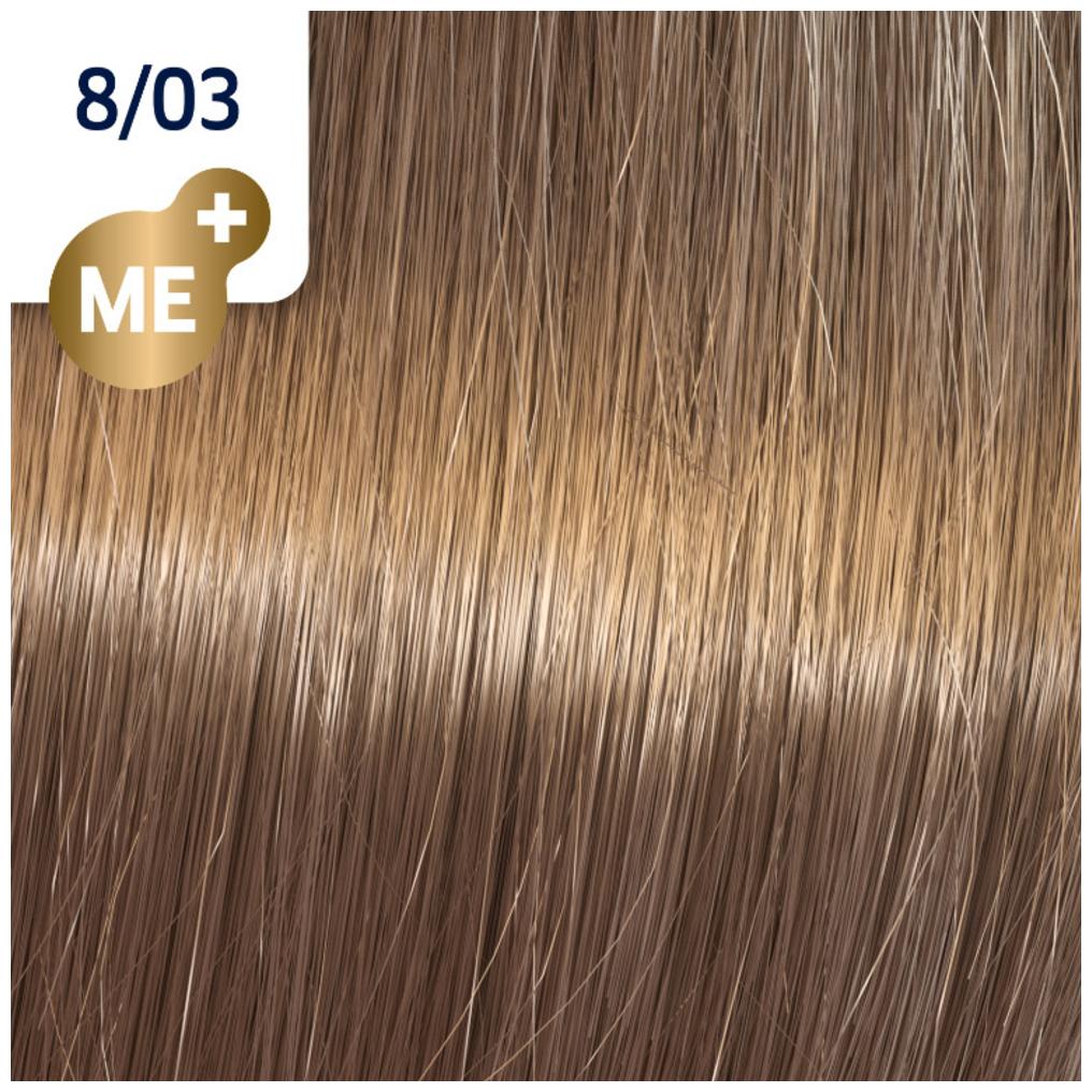 Profesionalna boja za kosu Wella Koleston Perfect 8/03 Prirodno zlatno svetlo plava