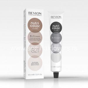 Revlon Nutri Color Toning Filters Creme 821 Maska u boji za toniranje kose, silver bež